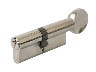 Личинка замка двери с ручкой Elementis 40(р)/40(к) (никелированный) Изображение