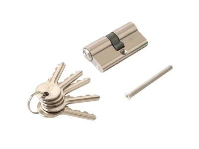 Личинка замка двери Elementis 30/30 (5 ключей, никелированный) Изображение