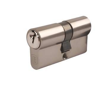 Личинка замка двери Elementis 30/30 (5 ключей, никелированный) Изображение 4