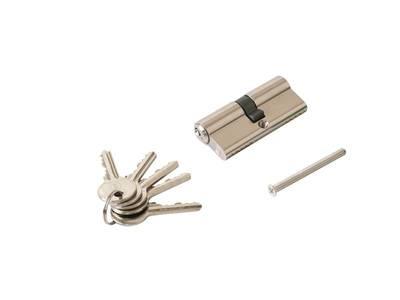 Личинка замка двери Elementis 35/35 (5 ключей, никелированный) Изображение