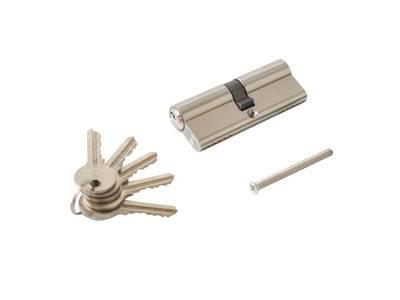 Личинка замка двери Elementis 35/45 (5 ключей, никелированный) Изображение