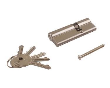 Цилиндр профильный ELEMENTIS 35/55, 5 ключей, никелированный Изображение 5