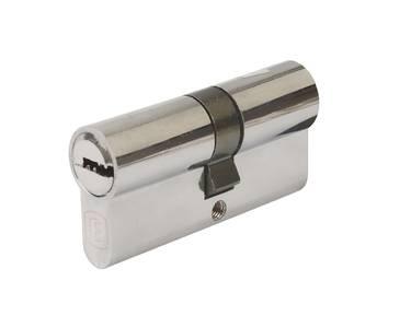 Цилиндр профильный ELEMENTIS 35(ключ)/35(ключ) ЦАМ, 5 перфорированных ключей, никелированный Изображение 2
