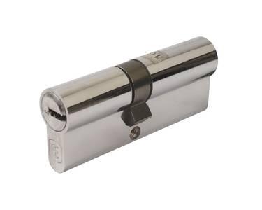 Цилиндр профильный ELEMENTIS 35(ключ)/45(ключ) ЦАМ, 5 перфорированных ключей, никелированный Изображение 2