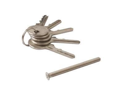 Цилиндр профильный ELEMENTIS 35(ключ)/55(ручка), 5 ключей, никелированный Изображение 2