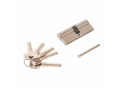 Личинка замка двери Elementis 40/40 (5 ключей, никелированный) Изображение
