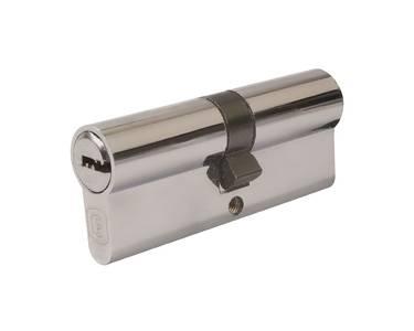Цилиндр профильный ELEMENTIS 40(ключ)/40(ключ) ЦАМ, 5 перфорированных ключей, никелированный Изображение 2