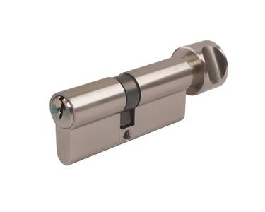 Цилиндр профильный ELEMENTIS с ручкой 35(ключ)/45(ручка), 5 ключей, никелированный Изображение 4