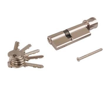 Цилиндр профильный ELEMENTIS с ручкой 35(ключ)/45(ручка), 5 ключей, никелированный Изображение 5