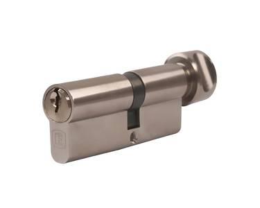 Личинка замка двери с ручкой Elementis 45(к)/45(р) (5 ключей, никелированный) Изображение 4