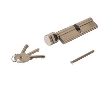 Цилиндр профильный ELEMENTIS с ручкой 50(ручка)/50(ключ), никелированный Изображение 2