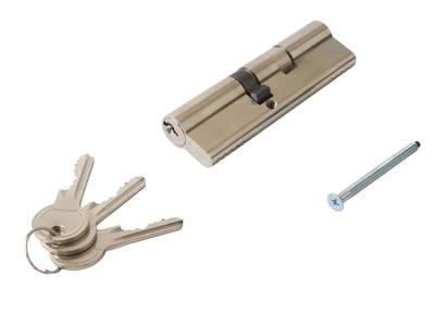 [ПОД ЗАКАЗ] Личинка замка двери Titan 45/60 (никелированный) Изображение 2