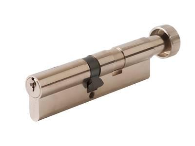 [ПОД ЗАКАЗ] Личинка замка двери с ручкой Titan 60(р)/50(к) (никелированный) Изображение