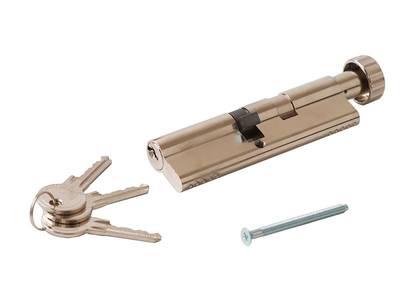 [ПОД ЗАКАЗ] Личинка замка двери с ручкой Titan 60(р)/50(к) (никелированный) Изображение 3