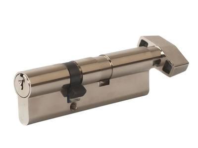 Цилиндр профильный MAXBAR с плоской ручкой CVG/K 65(ручка)/35(ключ), никелированный Изображение
