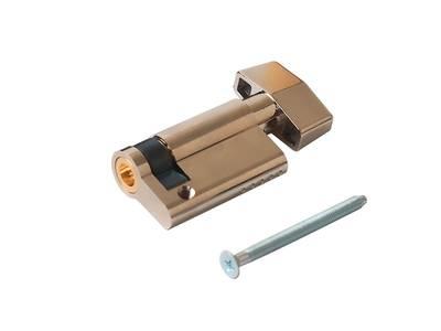 Цилиндр профильный MAXBAR с плоской ручкой 848/K 10-40, никелированный Изображение 3