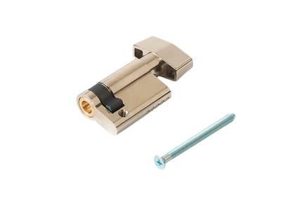 [ПОД ЗАКАЗ] Личинка замка двери с ручкой Titan 10(к)/35(р) (никелированный) Изображение 2