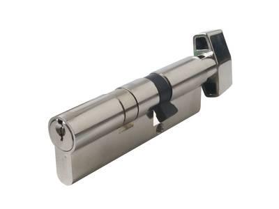 Цилиндр профильный MAXBAR сплоской ручкой CVG/K 35(ручка)/60(ключ), никелированный Изображение 3