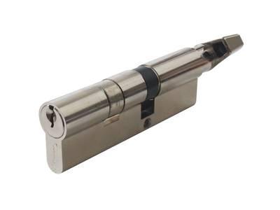 Цилиндр профильный MAXBAR с плоской ручкой CVG/K 40(ручка)/55(ключ), никелированный Изображение 3