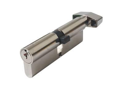 Цилиндр профильный MAXBAR с плоской ручкой CVG/K 45(ручка)/45 (ключ),никел. Изображение 3