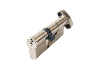 [ПОД ЗАКАЗ] Личинка замка двери с ручкой Titan 55(р)/35(к) (никелированный) Изображение 3