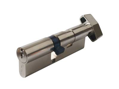 Личинка замка двери с ручкой Titan 55(р)/40(к) (никелированный) Изображение 3