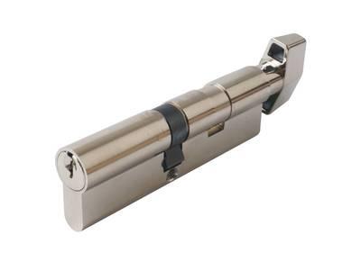 Цилиндр профильный MAXBAR с плоской ручкой CVG/K 55(ручка)/45(ключ),никел. Изображение 3