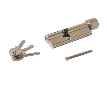 Цилиндр профильный с ручкой ELEMENTIS 40(ключ)/55(ручка), никелированный Изображение