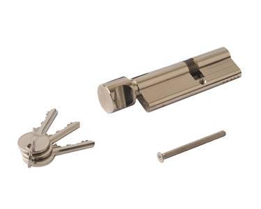 Цилиндр профильный с ручкой ELEMENTIS 40(ключ)/55(ручка), никелированный Изображение 2
