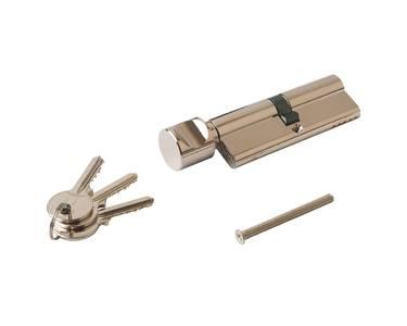 Цилиндр профильный ELEMENTIS 45(ключ)/45(ручка), никелированный Изображение 2