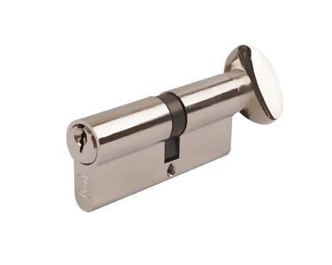 Цилиндр профильный с ручкой ELEMENTIS 45(ключ)/45(ручка), никелированный Изображение