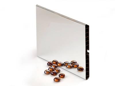 Цоколь кухонный ALPHALUX, H=100мм, L=4м, зеркальный, пластик+алюминиевая фольга Изображение