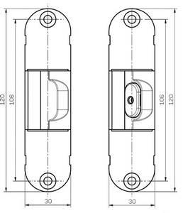 Стабилизатор для скрытых петель, 120x30 мм, цамак, белый Изображение 2