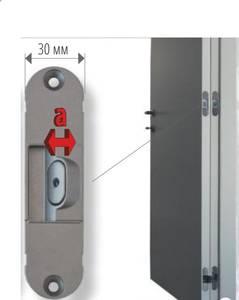 Стабилизатор для скрытых петель, 120x30 мм, цамак, белый Изображение 7