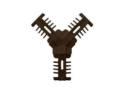 Соединение декоративное Y-образное Isabel коричневое Изображение