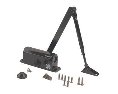 Доводчик дверной Elementis/Lianan 602 EN2 (EN-Size 2, с тягой, черный) Изображение 3