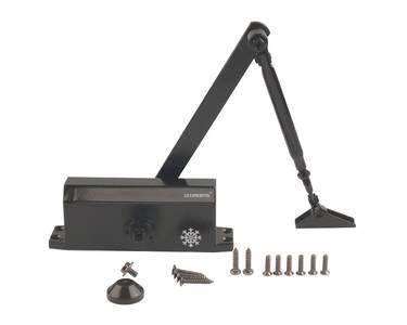 Доводчик дверной Elementis/Lianan 603 EN3 (EN-Size 3, с тягой, черный) Изображение 2