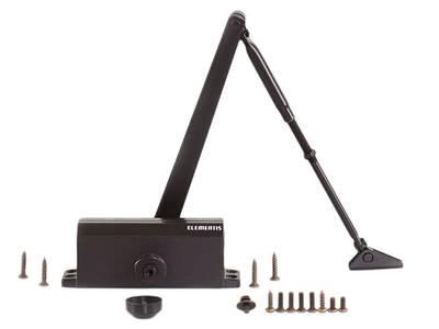 Доводчик дверной Elementis 603 / Lianan 603 (EN-Size 3, с тягой, коричневый) Изображение