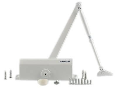 Доводчик дверной Elementis 604 / Lianan 604 (EN-Size 4, с тягой, белый) Изображение