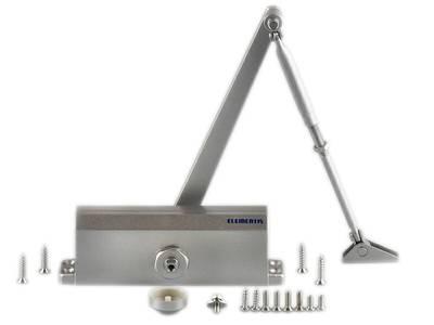 Доводчик дверной Elementis 604 / Lianan 604 (EN-Size 4, с тягой, серебристый) Изображение