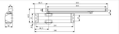 Доводчик Dorma TS-90 Impulse EN3/4, серебристый Изображение 4