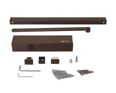 Доводчик дверной ECO Schulte TS-31 (EN-Size 1/2/3, со скользящей тягой, коричневый) Изображение 2