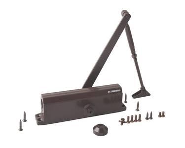 Доводчик дверной Elementis/Oubao 605 EN5 (EN-Size 5, с тягой, коричневый) Изображение