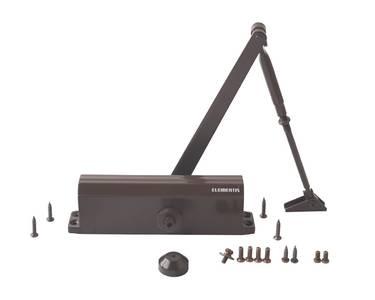 Доводчик дверной Elementis/Oubao 605 EN5 (EN-Size 5, с тягой, коричневый) Изображение 4