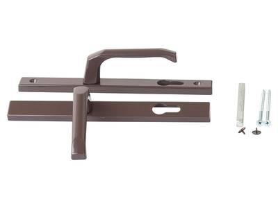 Дверной гарнитур Clio 26/92 (33) длина штифта 115 мм, коричневый Изображение 2