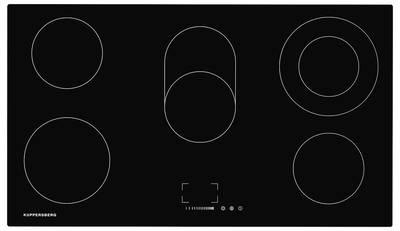EMS 901 Электрич. независимая варочная поверхность стеклокерамическая, ширина 90 см, цвет: чёрный Изображение