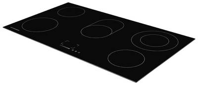 EMS 901 Электрич. независимая варочная поверхность стеклокерамическая, ширина 90 см, цвет: чёрный Изображение 2