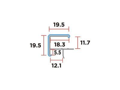Угловой соединительный элемент цоколя SCILM 90° (H=150 мм, алюминий) Изображение 2
