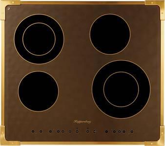 FA6RC Bronze Электрич. независимая варочная поверхность стеклокерамическая, ширина 58 см, цвет текстурная бронза, рамка цвета бронзы Изображение