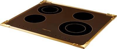 FA6RC Bronze Электрич. независимая варочная поверхность стеклокерамическая, ширина 58 см, цвет текстурная бронза, рамка цвета бронзы Изображение 2